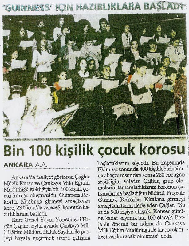 Bin 100 Kişilik Çocuk Korosu